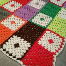 Crochet Armchair Covers Best Granny Square Blanket Products On Wanelo