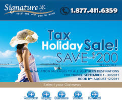 signature vacations tax sale with signature vacations