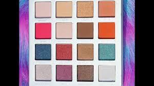 pur cosmetics trolls eye shadow palette swatches youtube