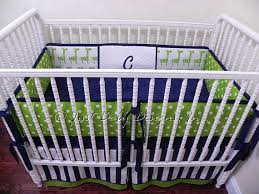 Custom Crib Bedding Sets Custom Crib Bedding Set Reed Boy Baby Bedding Navy And Lime