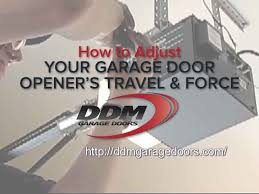 Overhead Door Model 456 Manual by How To Adjust Your Garage Door Opener U0027s Travel And Force Youtube
