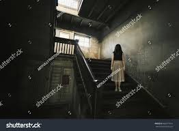 halloween haunted hospital background ghost haunted house mysterious woman horror stock photo 420971914