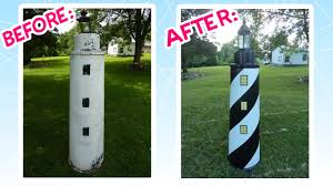 awesome lawn lighthouse makeover