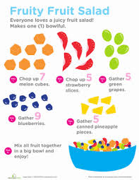 fruit salad recipe worksheet education com