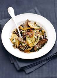 recette cuisine wok recette wok de bœuf au fenouil et au chèvre