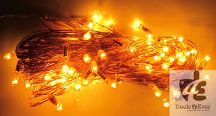 yellow rice lights serial bulb decoration light for diwali