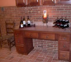 brick tile backsplash kitchen home design ideas