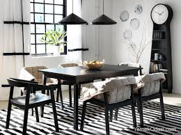 Ikea Salle A Manger Moderne by Black Bar Height Dining Table Images 37 Elegant Round Dining