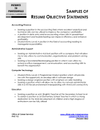Resume Example Objectives by Resume Sample Objective Free Resume Example And Writing Download