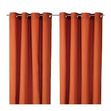 100 Length Curtains Ikea Mariam 100 Cotton Orange Curtains 1 Pair Length 300cm Width