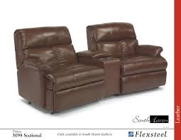 Flexsteel Reclining Loveseat Flexsteel Reclining 3098 Triton Leather Sectional Group