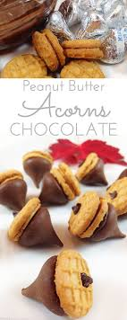 peanut butter chocolate acorns through looking glass