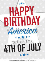 happy birthday america celebrate 4th july stock vector 287191418