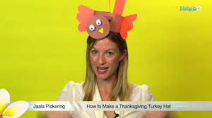 how to make a thanksgiving turkey hat youtube