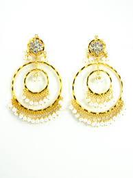 lotan earrings punjabi jhumka kundan earrings lotan silver metal earrings