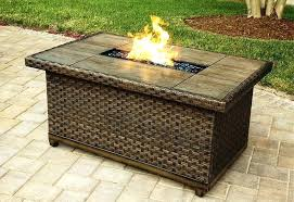 fire table cover rectangle rectangle propane fire pit outdoor gas and stylish rectangular table