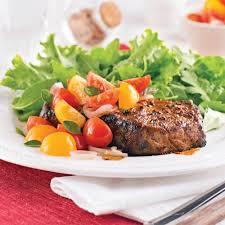 cuisiner boeuf contre filet de boeuf salsa de tomates confites recettes