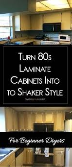 how to turn kitchen cabinets into shaker style make shaker kitchen cabinet doors on a budget cabinet
