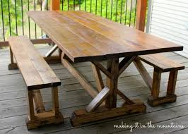 Building Outdoor Wooden Tables by 10 Diy Outdoor Farmhouse Tables Seeking Lavendar Lane