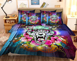 wolf bed set wolf bedding etsy