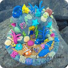fabulous finding dory cake between the pages