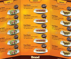 menu card templates family restaurant menu template