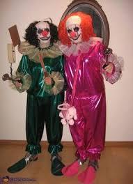 Halloween Clowns Costumes Evil Killer Clowns Couple U0027s Costume Lenses Teeth Clown