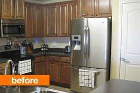 Kitchen Cabinets Diy Kits by Before U0026amp After Transforming A Dark Kitchen With A Diy Cabinet