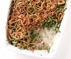 baked haricots verts with fried shallots finecooking