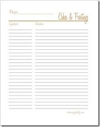 free printable recipe pages 12 best free printable recipe pages images on pinterest free