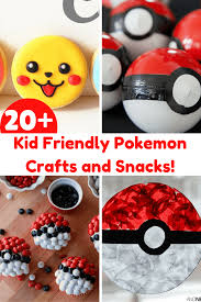 20 kid friendly pokemon crafts and snacks u2022 sammy approves