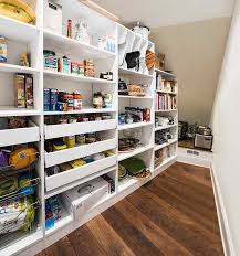 Roll Out Pantry Shelves by Long Narrow Pantry Under Stairs With Pull Out Pantry Shelves