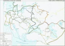 Map Of Medieval Europe Trade Routes In Medieval Europe