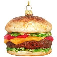 hamburger glass ornament novelty nostalgia
