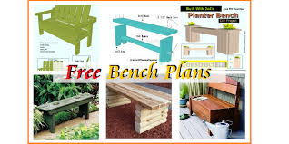 outdoor garden bench plans free construct101