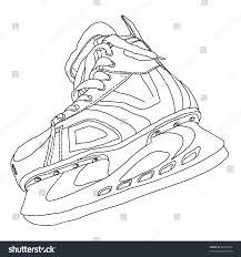 mens hockey skates drawn by hand stock vector 86670436 shutterstock