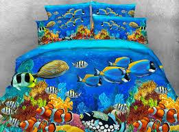 Kids Single Duvet Cover Sets Aliexpress Com Buy 3pcs Colorful Deep Ocean Fish Print Duvet