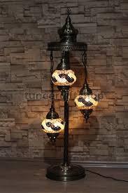 Mosaic Floor Lamp Mosaic Floor Lamp 3 Globe Spiral Standing Lamp Brown Belt