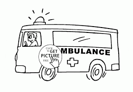 emergency vehicle coloring page for kids transportation coloring