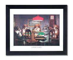 amazon com dogs playing poker at table animal picture black