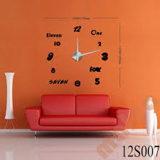 home decor hours 3d modern designs frameless large wall clock diy home decor style