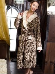 robe de chambre femme tunisie prestige leopard peignoir coral pour les femmes milanoo com