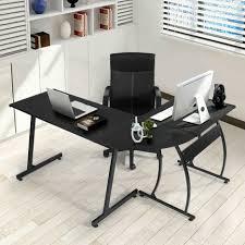 Z Line Belaire Glass L Shaped Computer Desk Black Z Line Belaire Glass L Shaped Computer Desk Desk Ideas