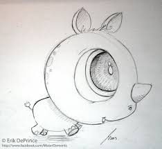 cute baby rhino sketch by erikdeprince on deviantart