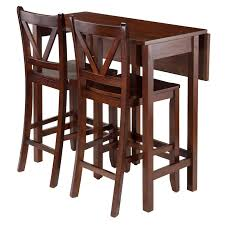 3 piece counter height table set have to have it winsome trading lynnwood 3 piece counter height