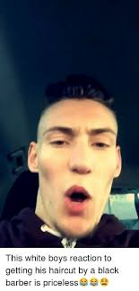 white boy haircuts this white boys reaction to getting his haircut by a black barber