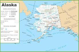 us state map with alaska map usa alaska alaska state maps usa travel maps and major