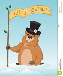 groundhog day greeting card stock vector image 65597300