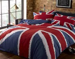 British Flag With Red Rock N Roll Funky Union Jack British Uk Blue Red White Double