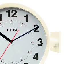 Leni Home Design Online Shop Buy Leni Station Wall Clock Ivory Online Purely Wall Clocks